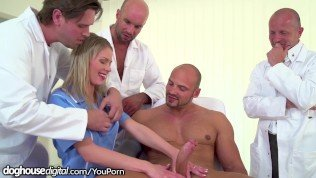 3 Doctors, 1 Patient & A Young Nurse Gangbang