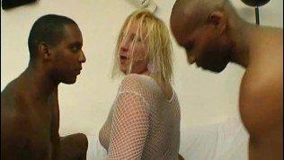 4 blacks on one blonde BBW