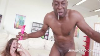Hungarian Babe Cathy Heaven Loves Bbc with Dap and Balls Deep Anal