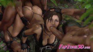 Tomb Raider Animated Sweet Lara Croft Wild Fuck Compilation