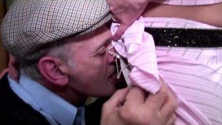 voyeur papy enjoys a young chick
