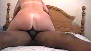 Wife riding a Large Thick Black cock