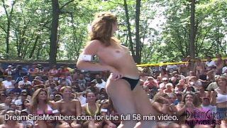 Wild Hot wife Bikini Contest At A Nudist Resort